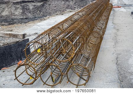 Reinforcement Cages For A Foundation Piles