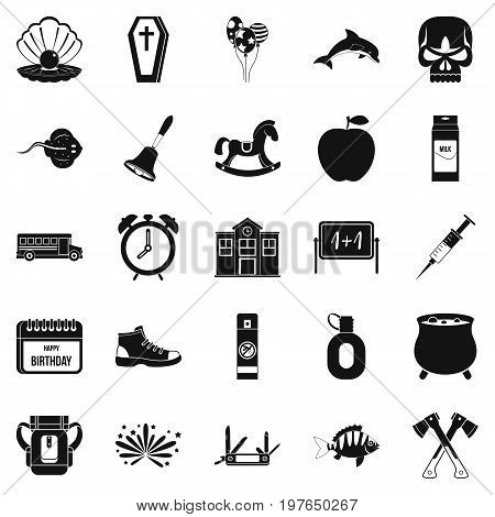 Autumnal icons set. Simple set of 25 autumnal vector icons for web isolated on white background