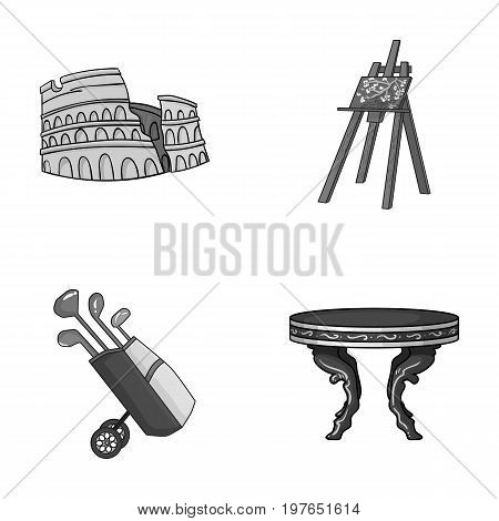 travel, sport and other  icon in cartoon style.art, furniture icons in set collection.
