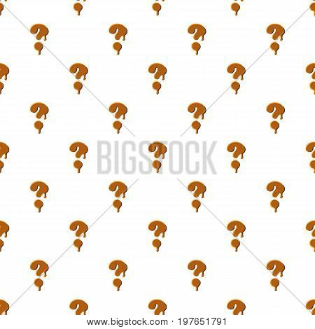 Question mark from caramel pattern seamless repeat in cartoon style vector illustration