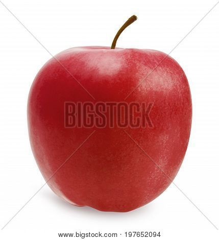 Red apple isolated over white, clipping path