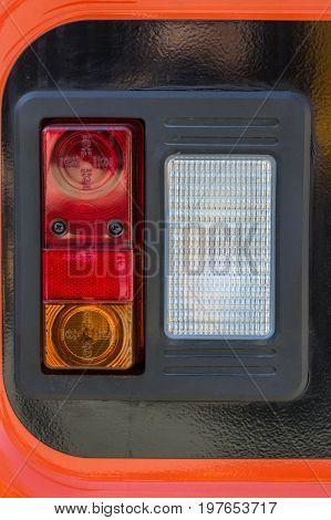 Vehicle Rear Lamp Closeup