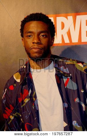 SAN DIEGO - July 22:  Chadwick Boseman at Marvel and Lexus Black Panther Party at Comic-Con at the Parq Nightclub on July 22, 2017 in San Diego, CA
