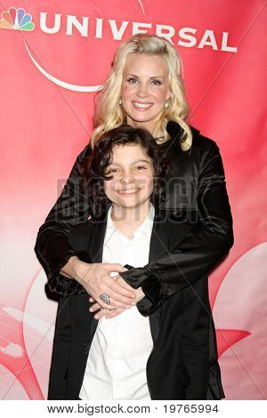 PASADENA, CA - JAN 13:  Monica Potter, Max Burkholder arrives at the NBC TCA Winter 2011 Party at Langham Huntington Hotel on January 13, 2010 in Pasadena, CA
