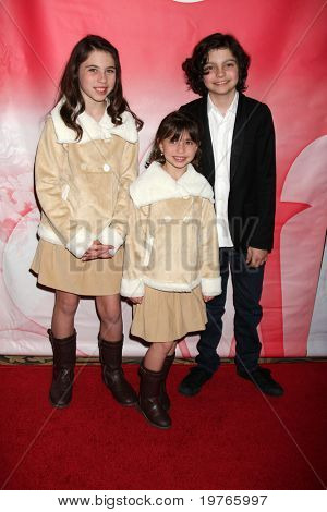PASADENA, CA - JAN 13:  Emily Evan Rae, Savannah Paige Rae, Max Burkholder arrives at the NBC TCA Winter 2011 Party at Langham Huntington Hotel on January 13, 2010 in Pasadena, CA