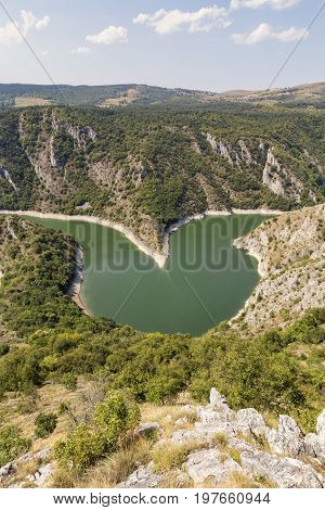 Heart Shaped Meander Of The Uvac River