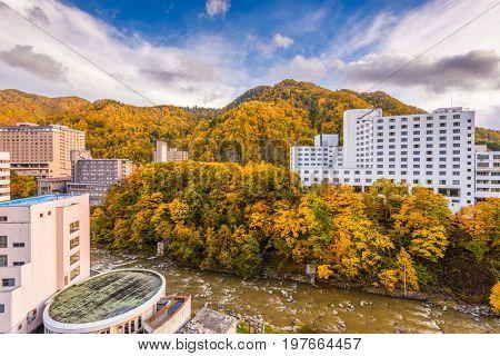 Jozankei, Hokkaido, Japan in autumn.