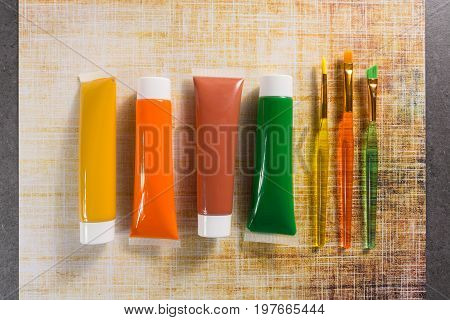 Colours Of The Nature - Mix Of Green, Yellow And Brown - Home Or Office Interieur Design Concept, Tu