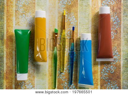 Colours Of The Nature - Mix Of Green, Blue, Yellow And Brown - Home Or Office Interieur Design Conce