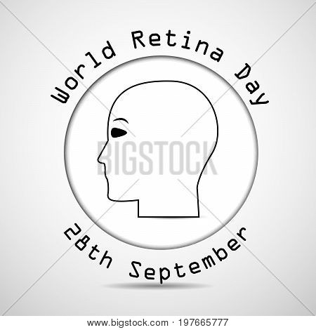illustration of face with World Retina Day 28th September text on the occasion of World Retina Day