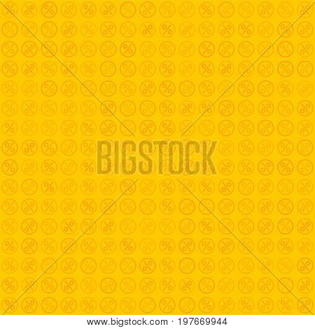 Percent seamless business background. Discount illustration. Economic finance promotion pattern