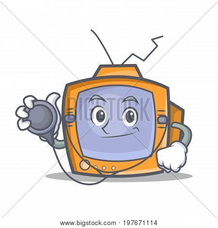 Doctor TV character cartoon object vector illustration