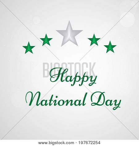 illustration of Stars with Happy National Day text on the occasion of Saudi Arabia National Day