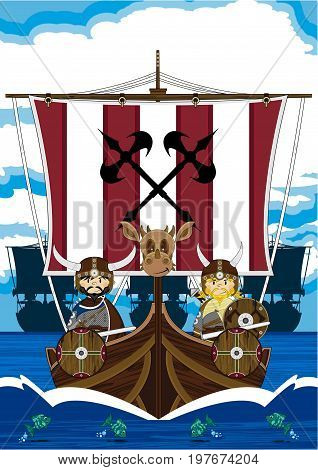 Fierce Vikings At Sea