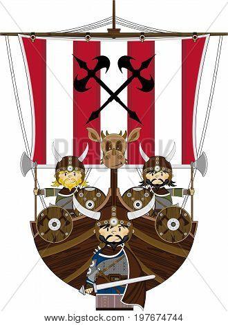 Fierce Vikings On Ship