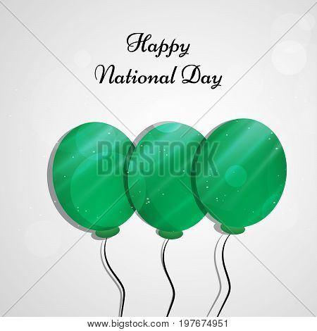 illustration of balloons with Happy National Day text on the occasion of Saudi Arabia National Day