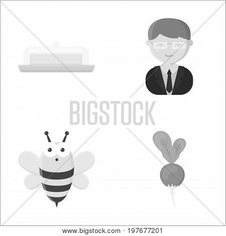 business, trade, ecoproduct and other  icon in monochrome style. radish, vegetable, leaf icons in set collection.