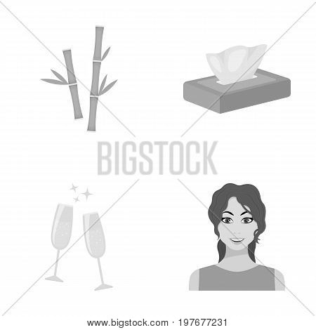 leisure, entertainment, business and other  icon in monochrome style.make-up, hairstyle, red icons in set collection.