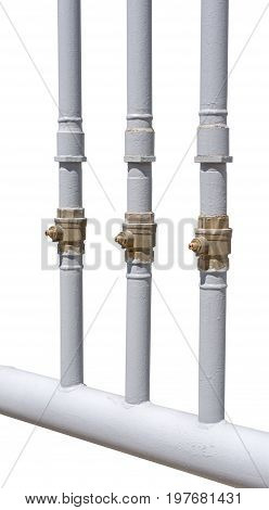 the new ndustrial pipes on white background