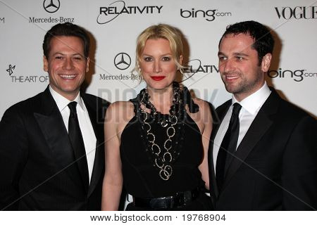 LOS ANGELES - JAN 15: Ioan Gruffudd, Alice Evans, Matthew Rhys arrives at the Art Of Elysium 'Heaven' Gala 2011 at The California Science Center Exposition Park  on January 15, 2011 in Los Angeles, CA