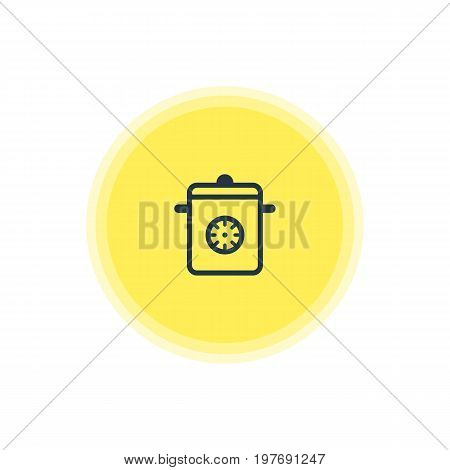 Beautiful Restaurant Element Also Can Be Used As Steamer Element.  Vector Illustration Of Multicooker Icon.