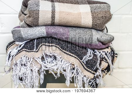 Warm Blankets On A Chair