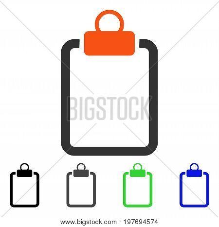 Empty Pad flat vector pictograph. Colored empty pad gray, black, blue, green pictogram versions. Flat icon style for graphic design.