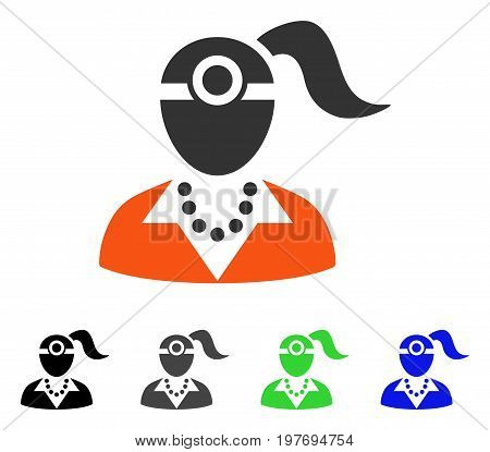Lady Vision Doctor flat vector pictogram. Colored lady vision doctor gray, black, blue, green icon variants. Flat icon style for web design.