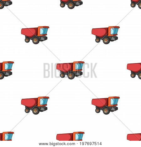 Truck with a large windshield. Agricultural Machine for  of cut plants.Agricultural Machinery single icon in cartoon style vector symbol stock web illustration.
