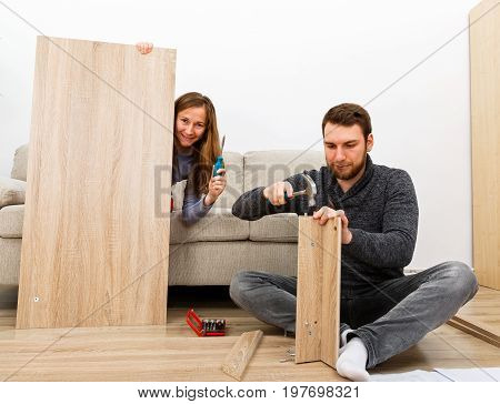 Home improvement do it yourself activity in new home