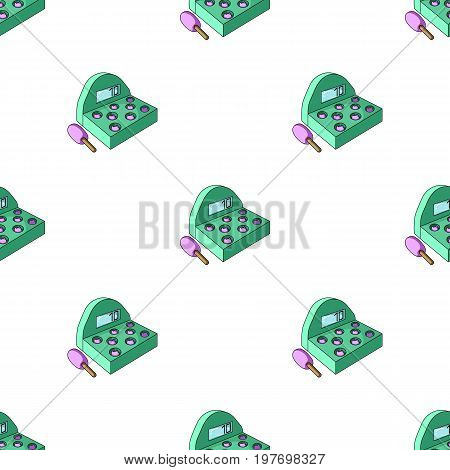 Attraction with a hammer to beat pop-up animals.Amusement park single icon in cartoon style vector symbol stock web illustration.