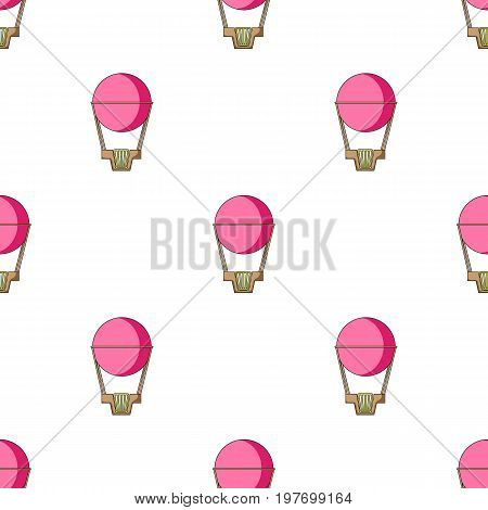 Pink big balloon for flight and travel.Amusement park single icon in cartoon style vector symbol stock web illustration.