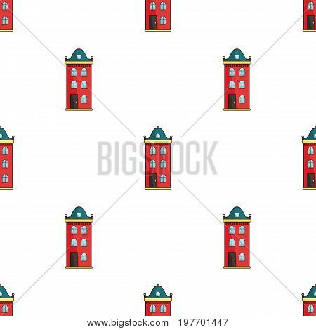 Building icon in cartoon design isolated on white background. Architect symbol stock vector illustration.