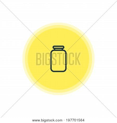 Beautiful Restaurant Element Also Can Be Used As Can Element.  Vector Illustration Of Jar Icon.