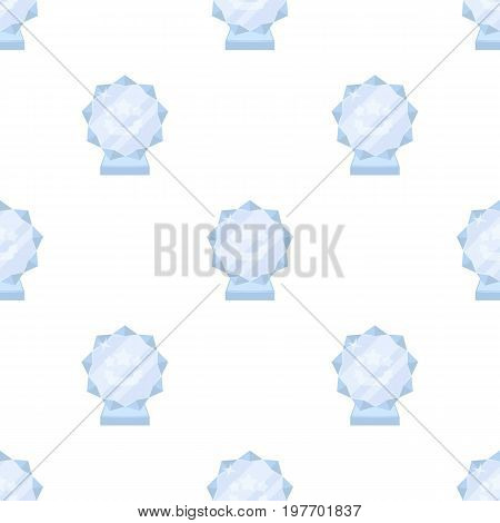 Crystal trophy in the shape of a star.Award for the best song in the talent contest .Awards and trophies single icon in cartoon style vector symbol stock web illustration.