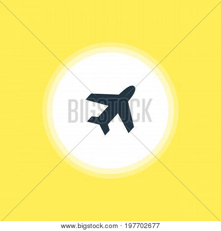 Beautiful Location Element Also Can Be Used As Aircraft Element.  Vector Illustration Of Airplane Icon.