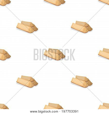 Chopped firewood.BBQ single icon in cartoon style vector symbol stock illustration .