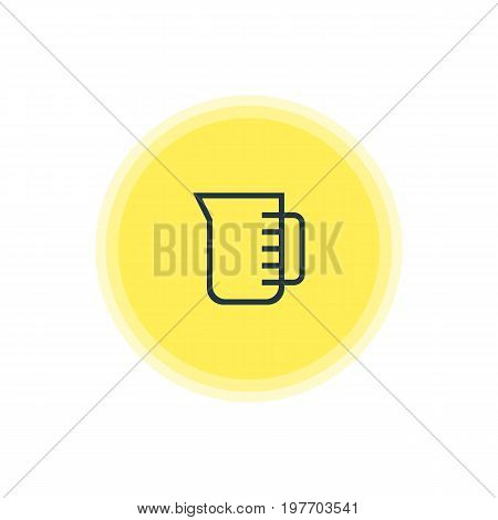 Beautiful Kitchenware Element Also Can Be Used As Carafe Element.  Vector Illustration Of Measuring Cup Icon.