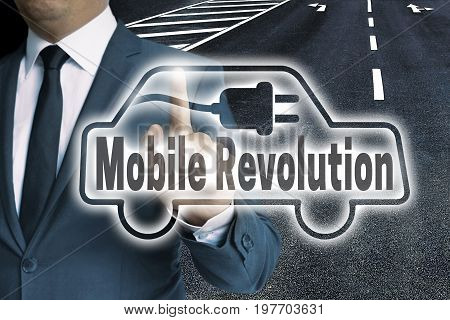 Mobile Revolution Auto Touchscreen Is Man-operated Concept