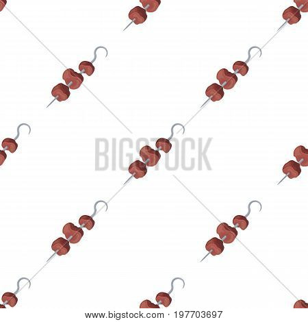 Meat on the skewer.BBQ single icon in cartoon style vector symbol stock illustration .