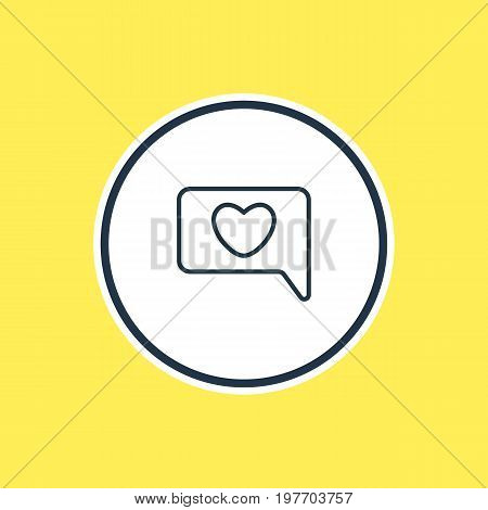 Beautiful Amour Element Also Can Be Used As Messenger  Element.  Vector Illustration Of Chat Outline.