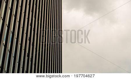 DUSSELDORF. GERMANY -08 07 2017. Exterior of the luxury Hyatt regency hotel.