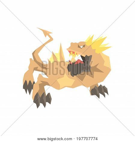 Dragon monster, mythical and fantastic animal vector Illustration on a white background