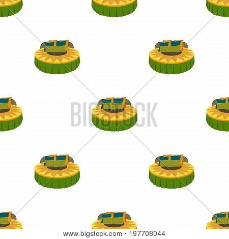 Round bed. Beds single icon in cartoon style vector symbol stock illustration .
