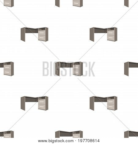 Grey desk with lockers.Desk for paperwork.Workplace and job, office, working symbol.Bedroom furniture single icon in cartoon style vector symbol stock web illustration.