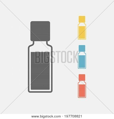 bottle of aroma oils. Icon. Vector sign for web graphics.