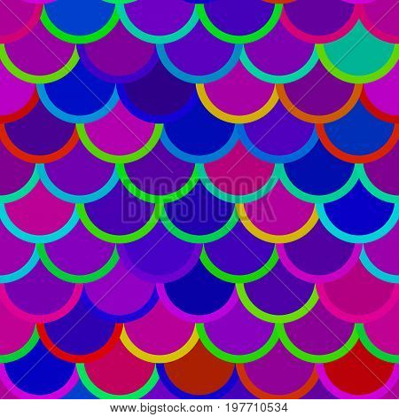 Traditional Japanese seamless pattern. Pink gradient fish squama. Mermaid scales. Stock vector