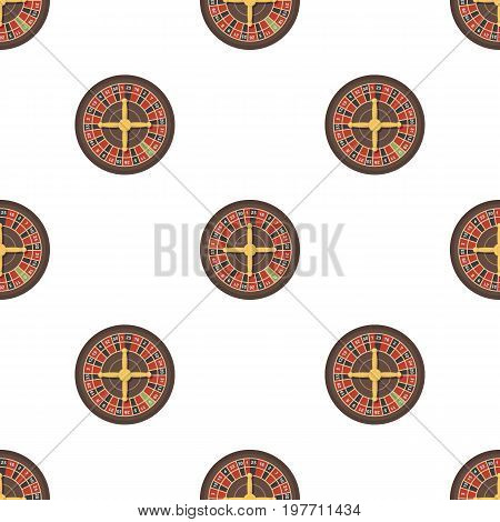 Roulette with red and black cells. The most popular casino game in the world.Kasino single icon in cartoon style vector symbol stock web illustration.
