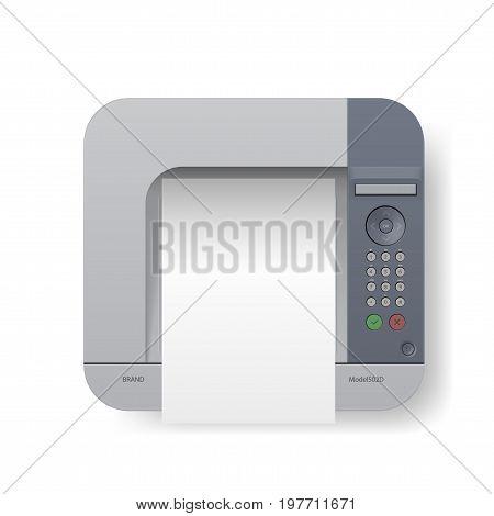 Realistic Laser Printer Top View. EPS10 Vector
