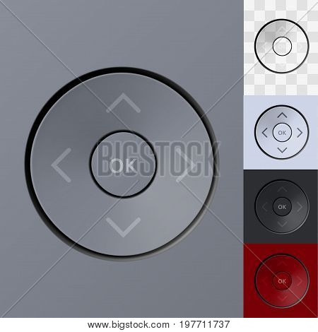 Technology Your Color Joystick Button Keypad Template. EPS10 Vector